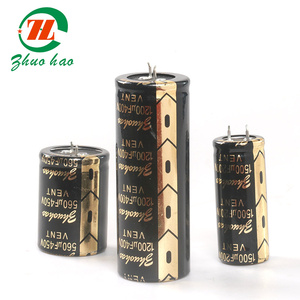 1500uf 200v aluminum horn electrolytic capacitor designed for Industrial Usage