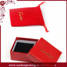 Fancy Cheap Custom Jewelry Pouch Velvet Packaging Pouch With Hot Stamping