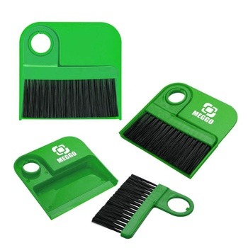 Customized Printed Mini Handle  PP Plastic Household Computer Keyboard Broom And Dust Pan Desktop Sweep Cleaning Brush