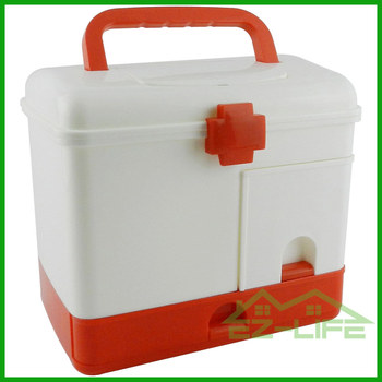 2016 New Design Rattan Plastic First Aid Emergency Medical Cheap Family  Samall Accessories Storage Box/