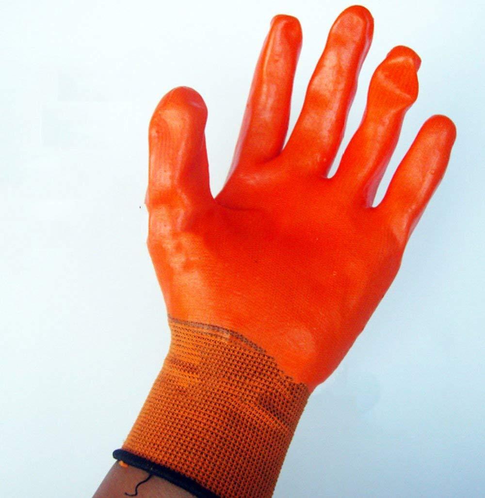 ANHPI Small Pets Anti-bite Anti-bite Anti-grasping Thickening Gloves Orange,Orange-Onesize