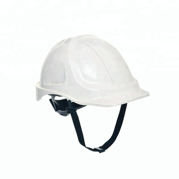 white engineering Head Protection PE ABS Engineering safety helmet