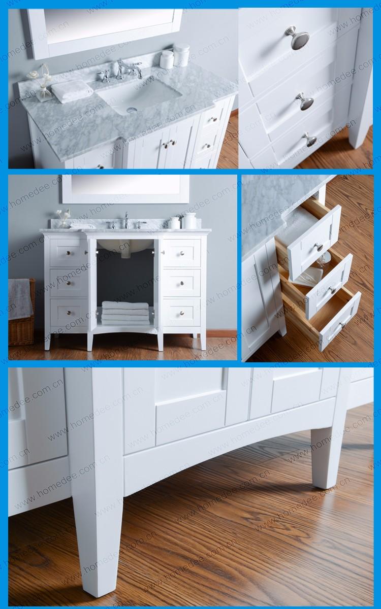 Homedee Solid Wooden Bathroom Vanity Used Bathroom Cabinet