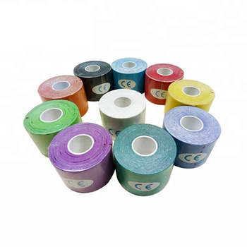 wholesale multicolor K sports kinesiology sports tape Waterproof kinesiology Tape muscle sports tape ce/fda