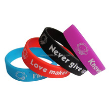 cheap custom wristband fashion silicone wristbands/bands/bracelets for business gifts