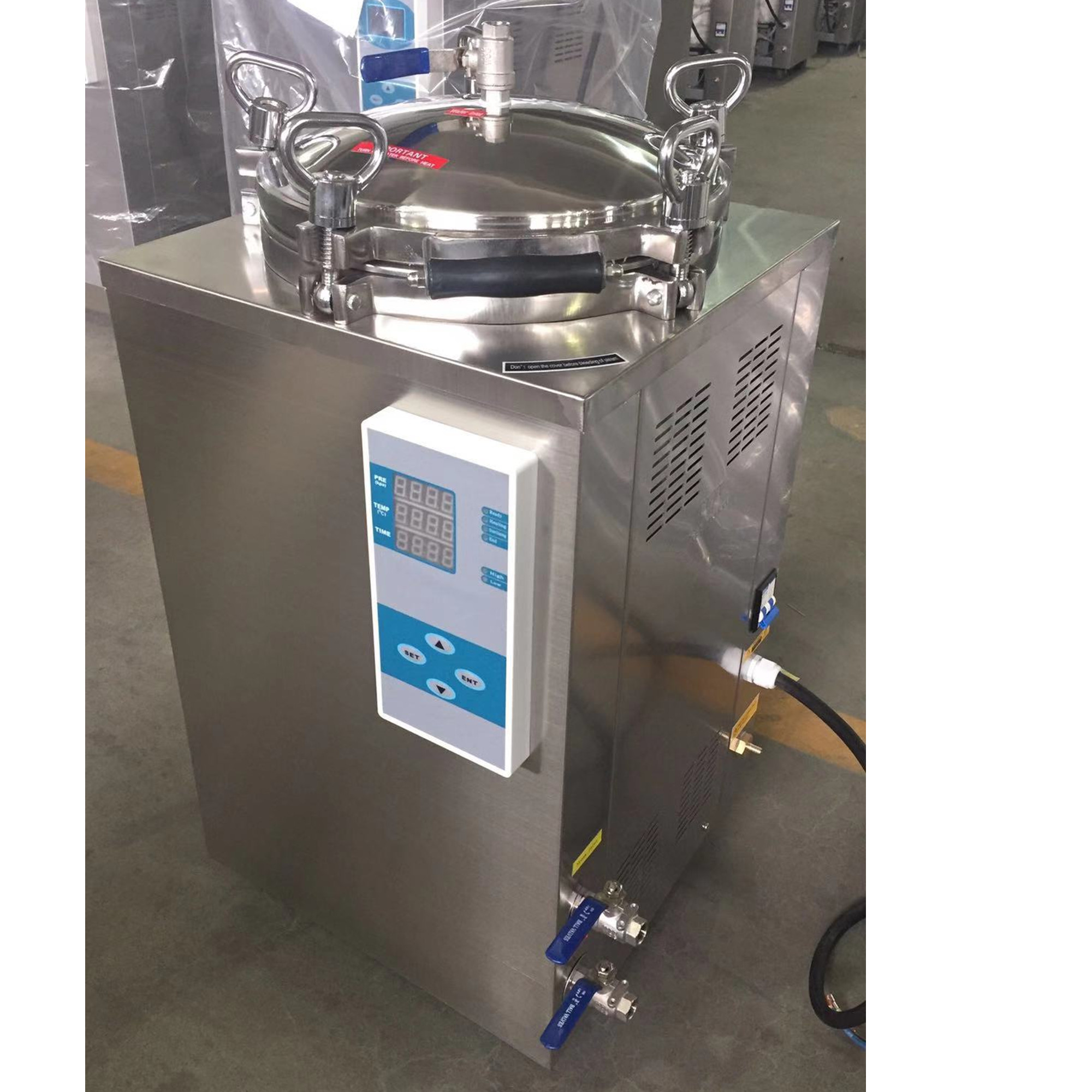counter pressure retort autoclave for food with vacuum packaging film anti inflation bag