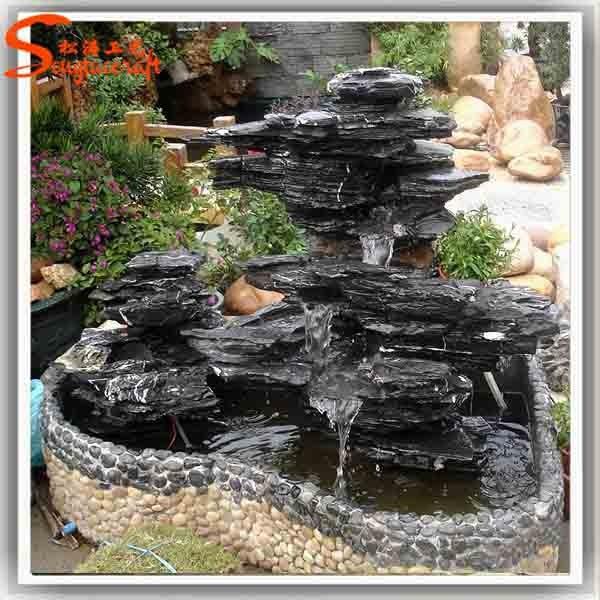 R stica apilados y escalonada de piedra al aire libre - Fuentes de jardin rusticas ...