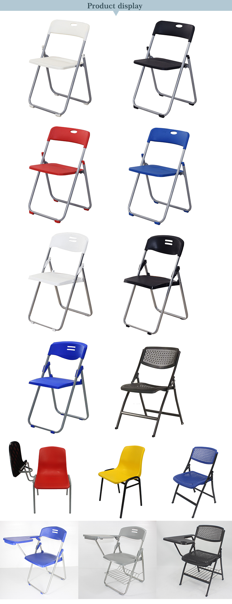 Outdoor Garden Furniture Wedding Plastic Resin Folding Chair