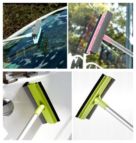 Elegant Water Fed Pole Window Cleaning, Shower Squeegee Long Handle