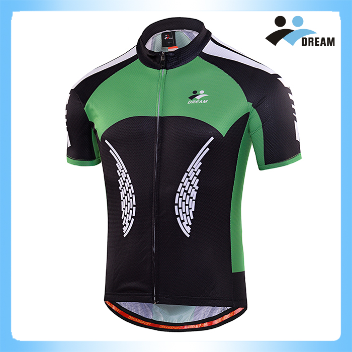 2016 Best Quality Green Sublimation Short Sleeves Soomom Cycling Jersey Sets