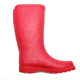 Fashionable design red printing elastic rubber waterproof half boots ladies wellington women boots