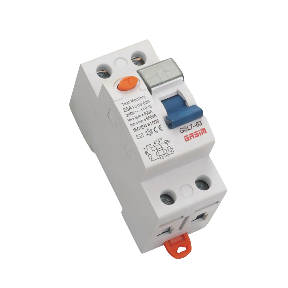 High Quality rccb circuit breaker rcd 2p 63a