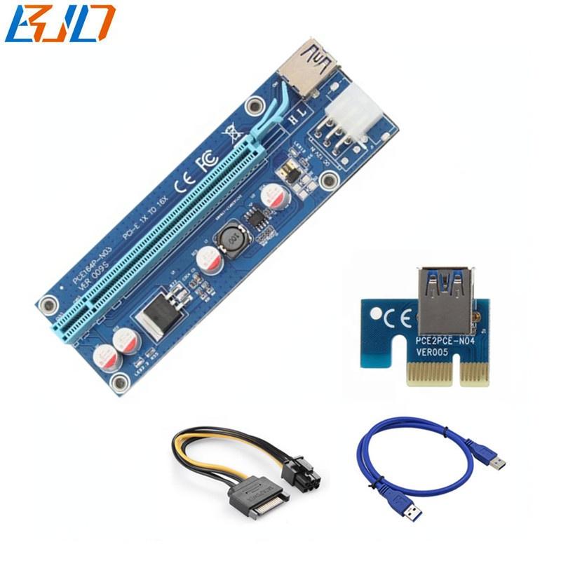 VER 009s 6pin PCIe Riser PCI-E 1x to 16x Riser Card - GPU Risers in stock фото