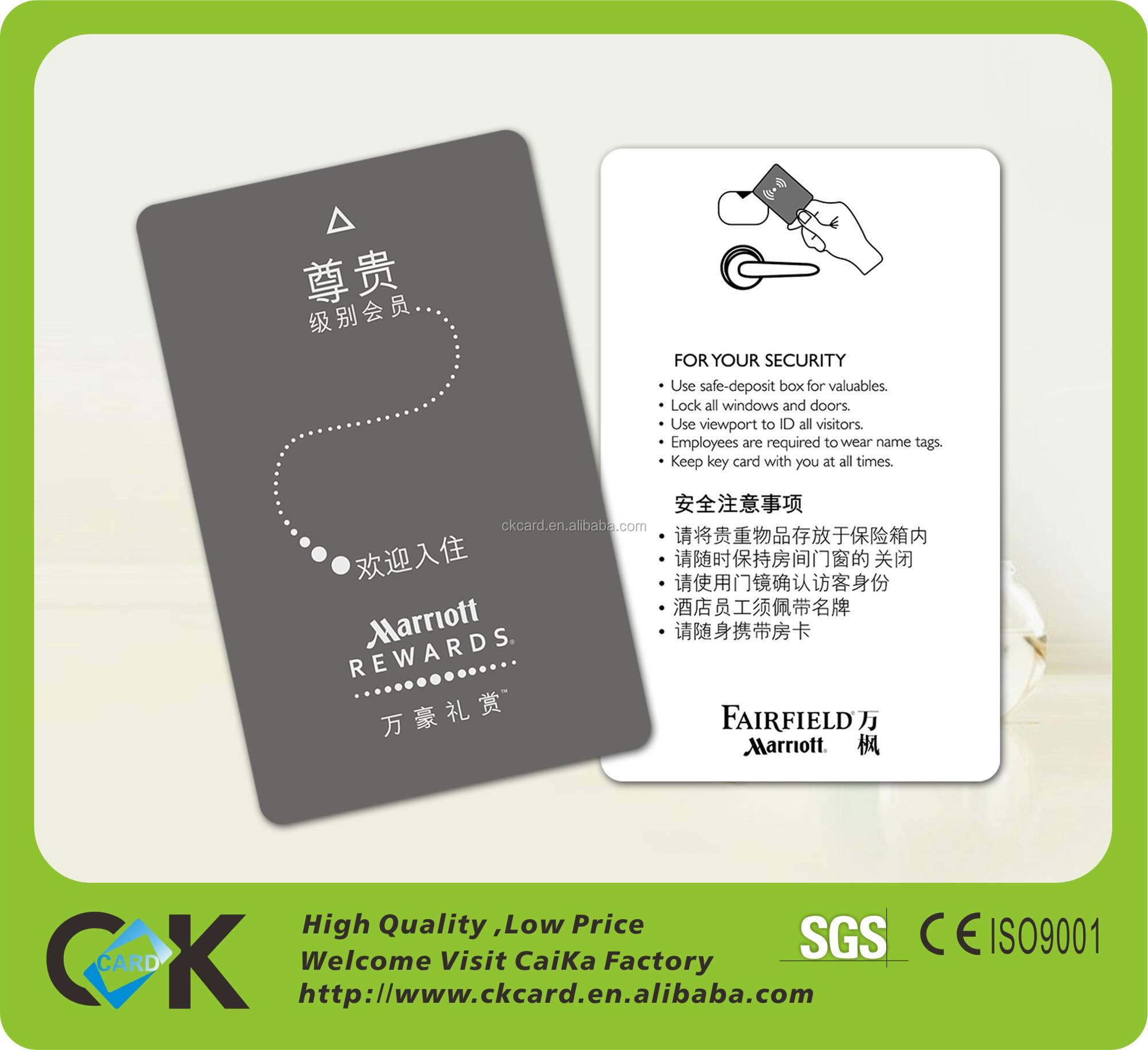 Hotel key card with chip 4442/4428 Contactless ic chip card for best price from ShenZhen golden suppliers