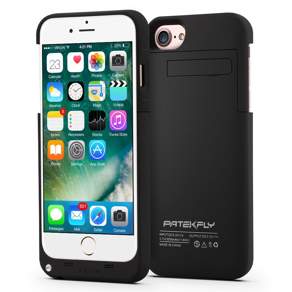 iPhone 7 Battery Case, Patekfly 3200mAh Slim Rechargeable Protective Portable Charging Case for iPhone 7 (4.7 Inch) Compatible With iPhone 6s&6 (iPhone7 Power Pack & Juice Bank)