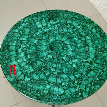 Top Green Round Malachite Natural Stone Countertop Marble Slab Price