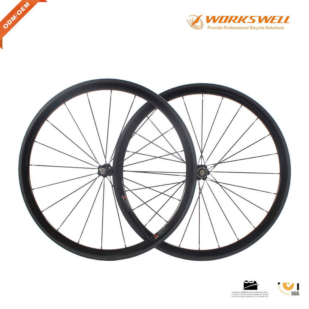 2017 road bike carbon wheelset 38mm clincher cheap and high quality carbon wheels for sale