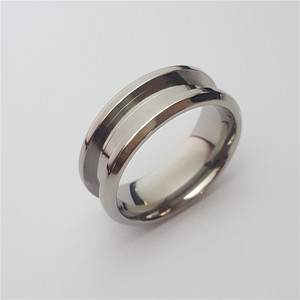Wholesale Fashion Jewelry Stainless Steel Rings Blanks Titanium Steel Rings for inlay