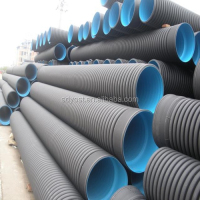 dn300~710 mm high quality HDPE pipe Double-wall corrugation Pipes
