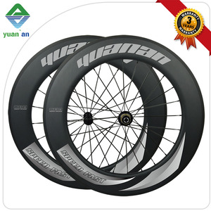 carbon fibre material blade spoke bike wheel 700c 28 inch chosen bicycle hub bicycle road wheelset clincher 88mm depth 25 width