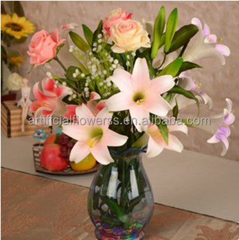 High Simulation Artificial Tiger Lily Flowers For Wedding ...