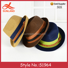 S1964 nieuwe unisex gratis patroon kleur <span class=keywords><strong>stro</strong></span> fedora hoeden zomer zon trilby hoeden met <span class=keywords><strong>stro</strong></span> <span class=keywords><strong>band</strong></span>