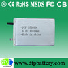 3.7V lipo battery lithium 556599 4000mAh rechargeable batteries battery cell