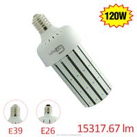 15317.6Lm 120W Replace 400W LED Corn Bulb Mogul Base E39 E40 5000K AC100-277V 360 Degree Flood Light LED Corn Light Bulb