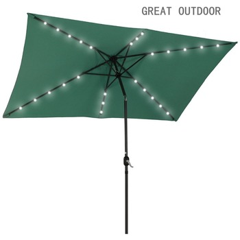 Size Outdoor Umbrella With Solar Led Lights