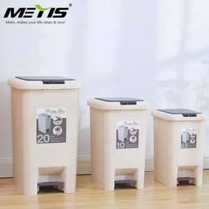 Gold supplier high quality 6.5L small push and pedal dustbin plastic garbage bin