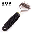 Stainless steel pet dog shedding dematting brush comb tool for dogs cats