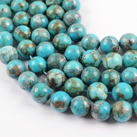 LS057 Raw turquoise cheap bead bracelets, natural turquoise beads for jewelry making