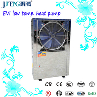 Best 5HP EVI Low temp heater 18kw Stainless Steel Air to water Copeland factory Air source bathroom Heat pump Juteng