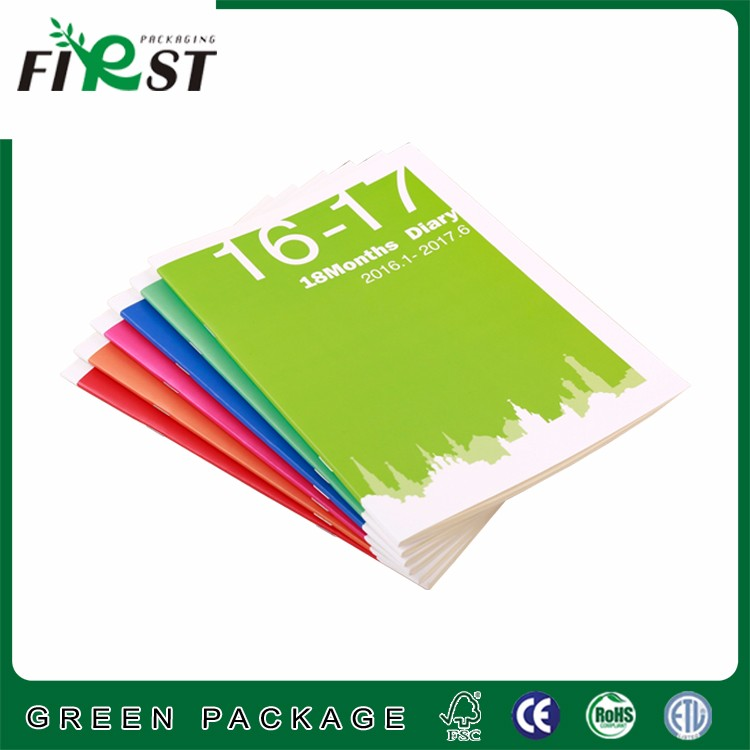 Accompanied notebook hand by planning notebook with A5 size color printed inner page for schedule record