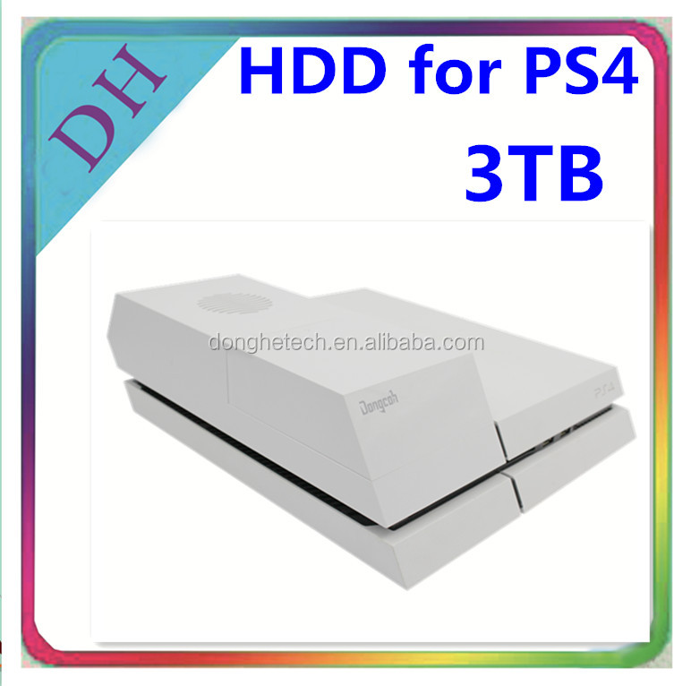 Factory hot selling 3.5inch external hard drive enclosure with OEM service, 3tb hdd in a black/white hdd case for PS4