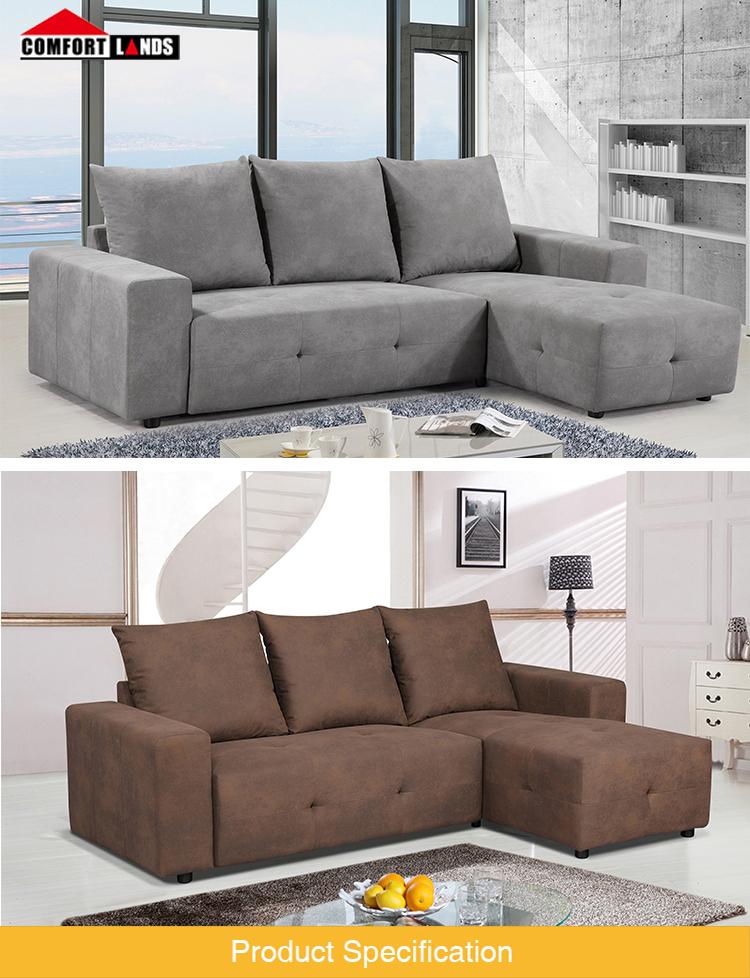 Cheap Living Room Furniture Modern Sectional Sofa L Shape Corner