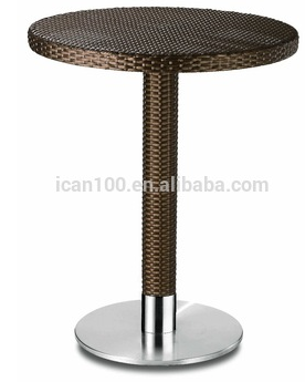 aluminum rattan restaurant and bistro table