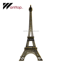 Decoration Vintage Bronze Paris Eiffel Tower Figurine Statue Model Art Mind Design Metal Craft