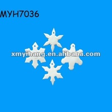 2012 new fashion ceramic bisque snow flakes ornament