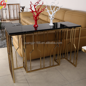 Modern Steel Italian Design Console Table With Mirror - Buy ...