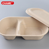 Accept Custom Order and Plastic Material Compartment pulp take out food bowl
