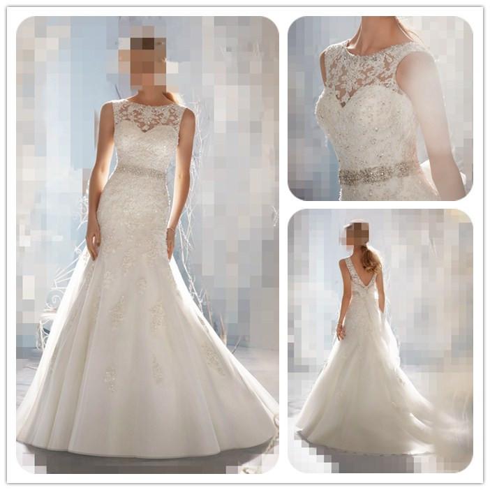Cheap White Ivory Wedding Dresses Mermaid Lace Appliques: Cheap Price ! 2016 Diamond Mermaid Sweetheart Applique