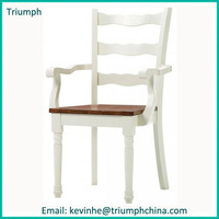Dutch style best selling wooden untique arm rattan chair