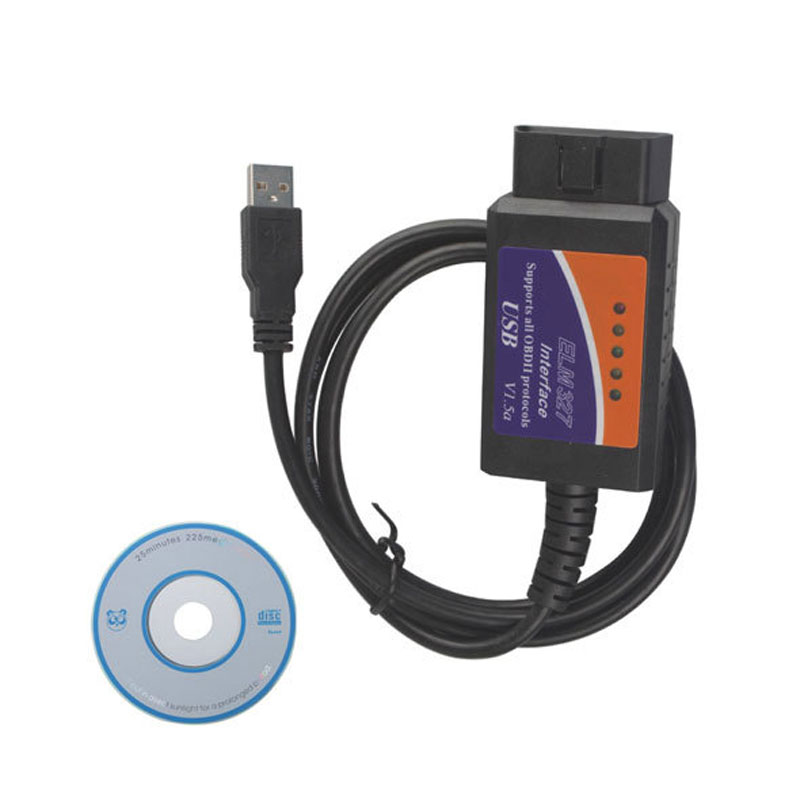 obdii elm327 V1 5 Car Diagnostic Interface Scan Tool OBD2 ELM327 USB CAN BUS Adapter elm