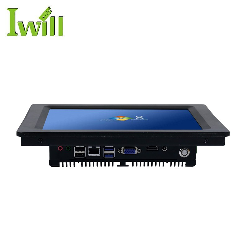 DC 9V ~ 36V input resistive single touch 10.4 inch fanless embedded industrial panel pc with Intel J1900 processor