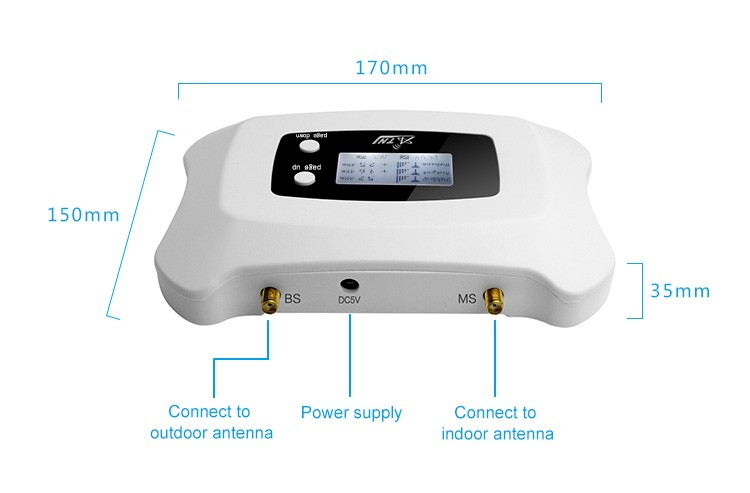 Cell phone blocker sharper image - High Gain 3g signal booster Repeater cell phone signal amplifier With Power Supply