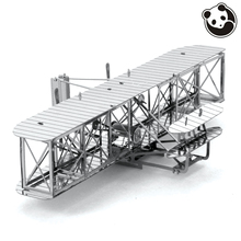 Panda model PLANES 3D Metal Model Puzzles WRIGHT BROTHERS AIRPLANE Chinese Metal Earth Military Series Creative