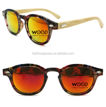 Pc Plastic Frame Wood Bamboo Temple Polarized Sunglasses With ...