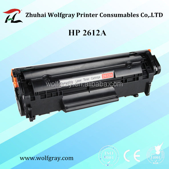 Compatible toner cartridge for HP 2612A 12A for HP LaserJet 1010 1012 1015 1018 1020 1022
