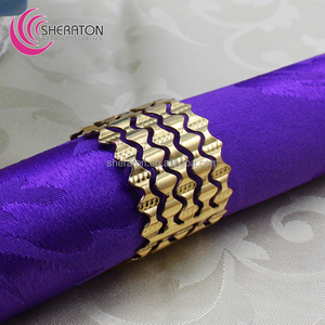 wholesale 300 designs metallic napkin rings iron for hotel wedding dinner /gilded gold silver napkin holder cheap price